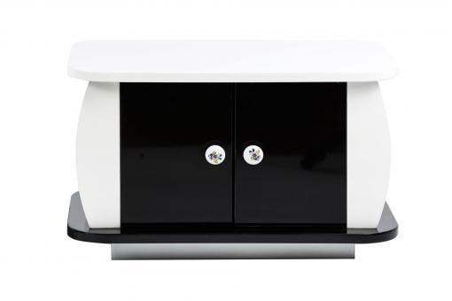 Tisch für Kaffeezeremonie - schwarz/weiß