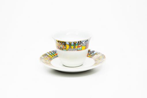 Kaffeetassen & Untertasse 6 Stk - Queen Sheba / King Solomon